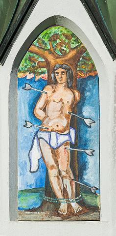 Sankt_Georgen_am_Laengsee_Launsdorf_Kreisverkehr_Bildstock_St_Sebastian_02122015_2425
